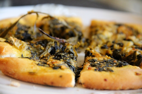 Kermanig's Spinach Focaccia reviewed by Skinny Girl Standard, a low calorie food blog