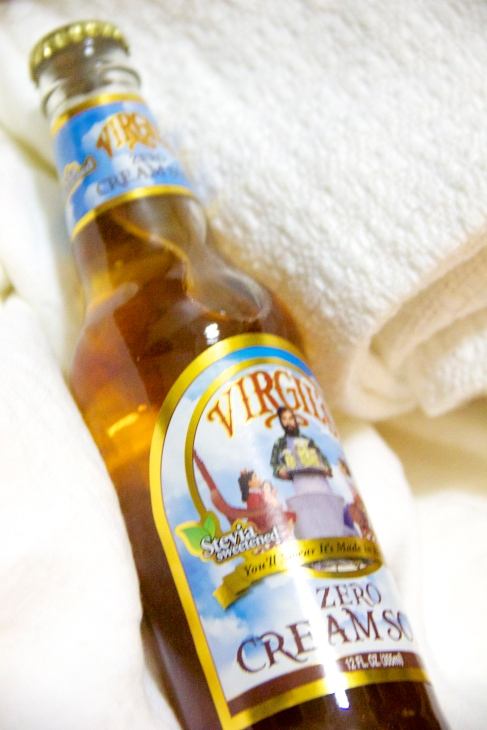 Virgil's Zero Cream Soda reviewed by Skinny Girl Standard, a low calorie food blog