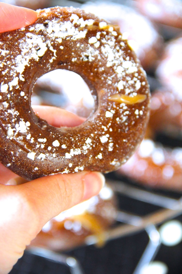 Skinny Brownie Batter Soufflé Donuts by Skinny Girl Standard, a low calorie food blog